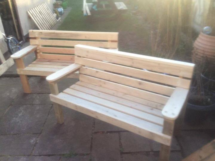 Wooden Pallet Garden Benches Easy Pallet Ideas