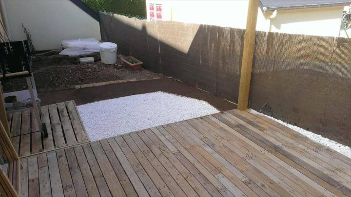 pallet home deck flooring