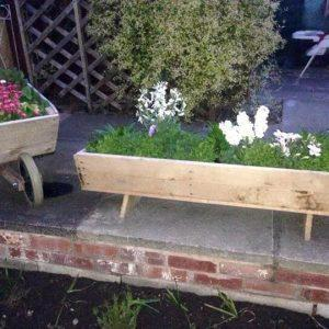 diy pallet wheels barrow wooden garden planter