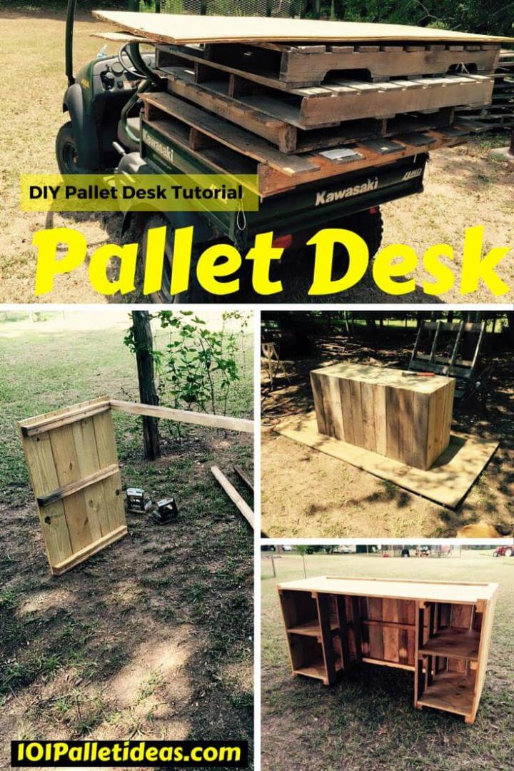 DIY Wood Pallet Desk Tutorial