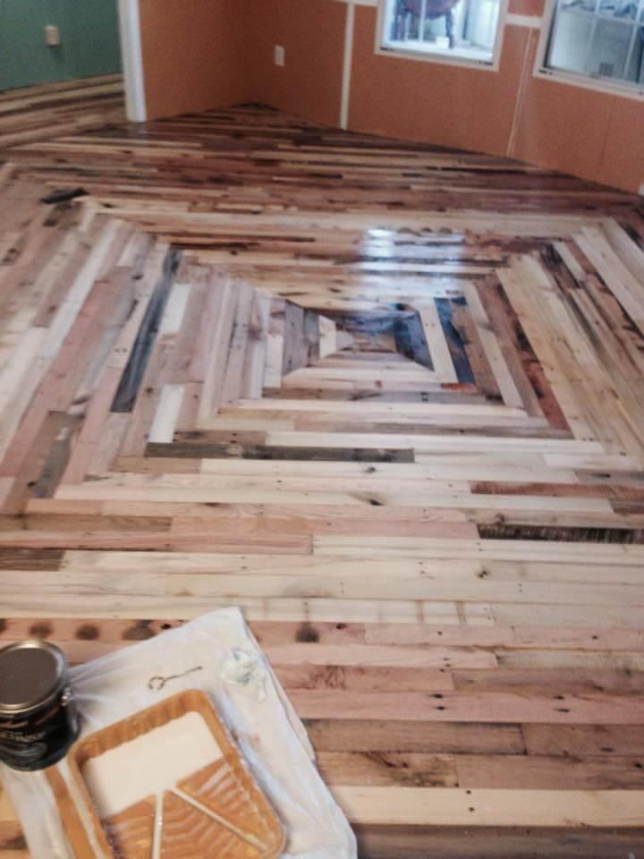 Pallet Flooring Cheaper Than Wood Diy Easy Pallet Ideas