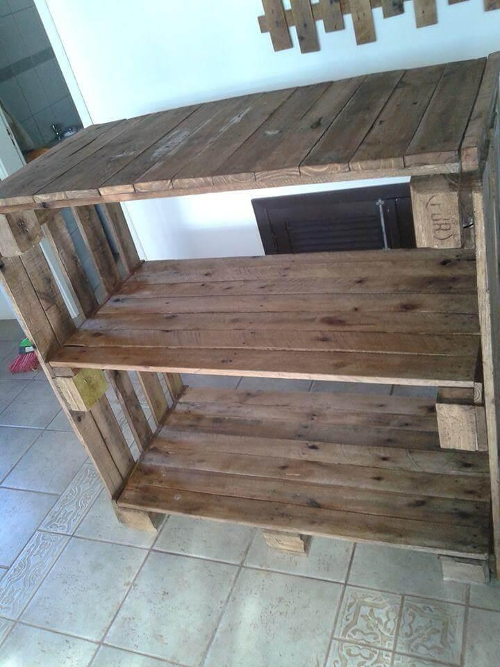 Pallet Shelving Unit For Storage Pallet Console Table