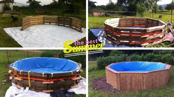 DIY Pallet Swimming Pool - Tutorial - Easy Pallet Ideas