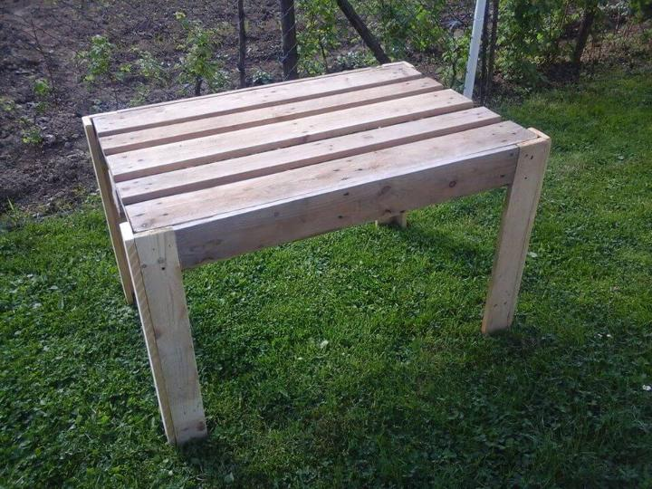 coffee table salvaged from pallets