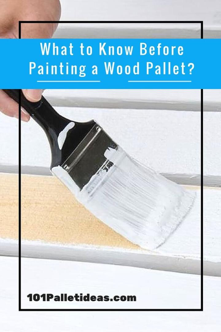 How to paint pallets?