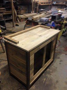upcycled wooden pallet hutch counter
