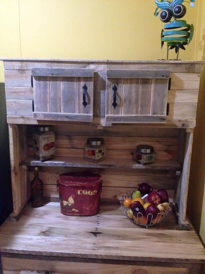 kitchen hutch made of pallets