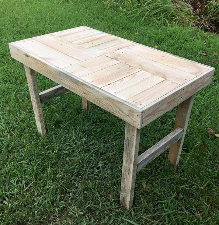 handcrafted pallet outdoor coffee table