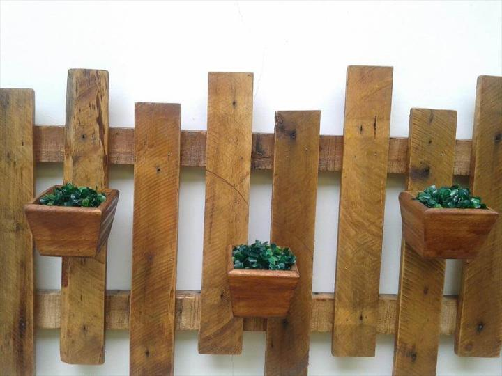 recycled pallet wall hanging planter