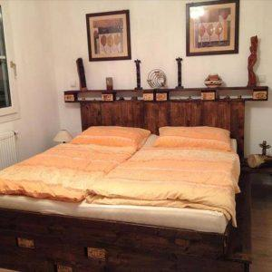 bed made from salvaged pallet
