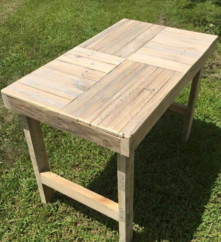 wooden pallet outdoor accent coffee table