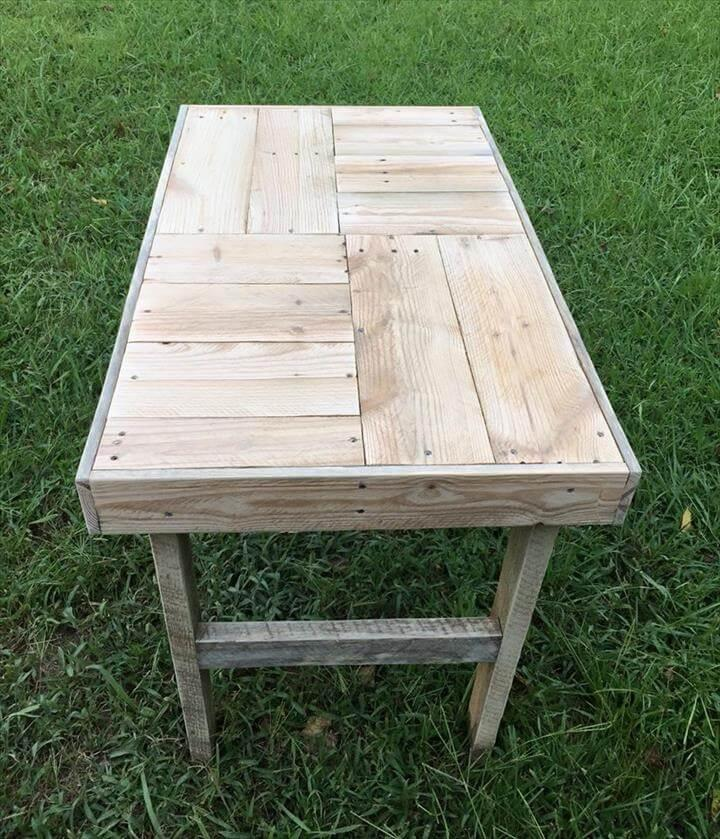 handcrafted pallet shabby chic coffee table
