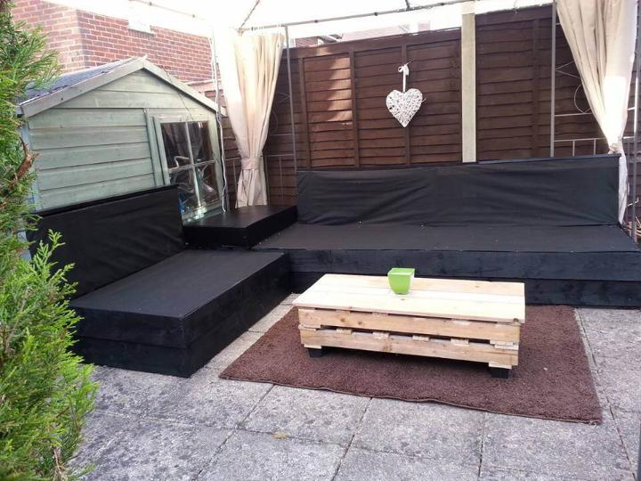 handcrafted pallet patio sofa set