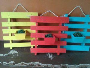 handcrafted pallet wall hanging planters