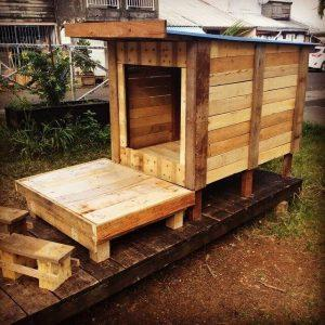 diy pallet cage and pet house