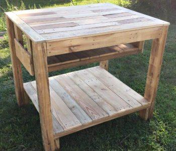upcycled pallet kitcen island
