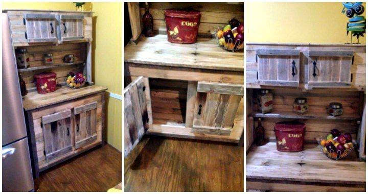 Kitchen Hutch Made From Pallets - Easy Pallet Ideas