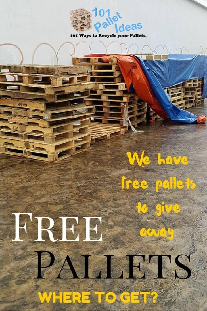 Where to Get Pallets for Free? Free Pallets Near me - Easy