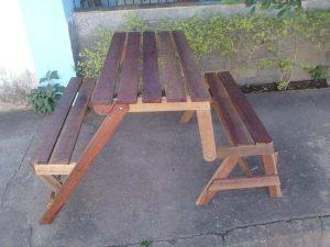 DIY Fold-able Pallet Bench – Picnic Table