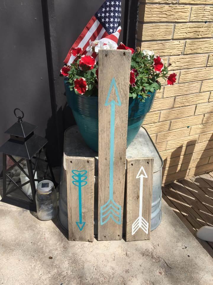 handcrafted pallet garden signs