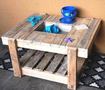 wooden pallet kids mud kitchen