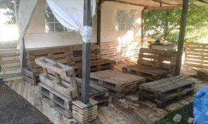 pallet home decking project