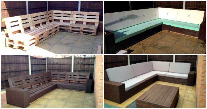 Diy Pallet Sectional Sofa For Patio Self Installed 8 10
