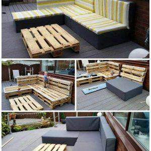 DIY Pallet Upholstered Sectional Sofa - Pallet Furniture Ideas - Pallet Ideas - easy Pallet Projects