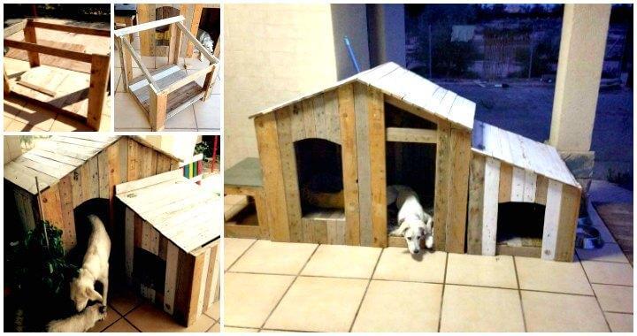DIY Pallet Dog Cat House t