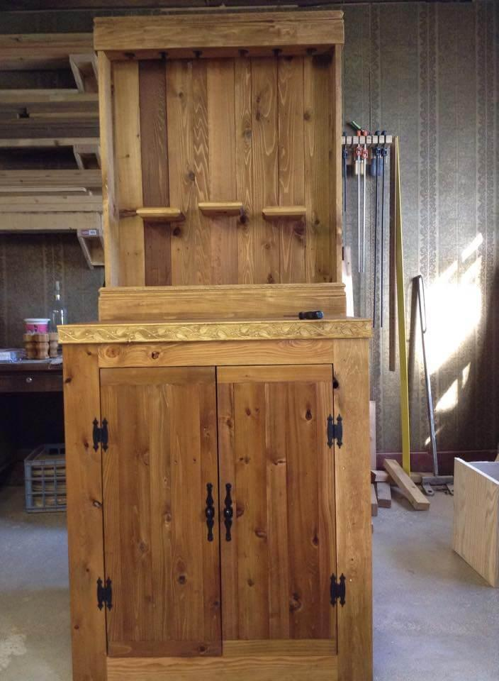 wooden pallet hall tree
