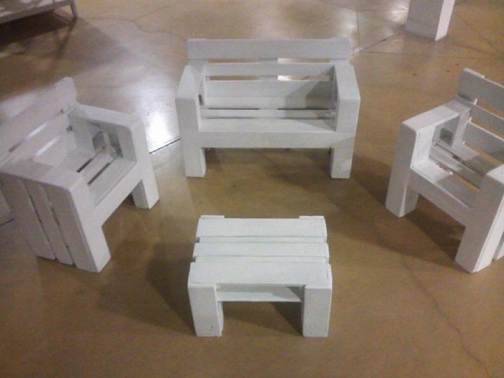 Diy Pallet Furniture Set For Kids Easy Pallet Ideas