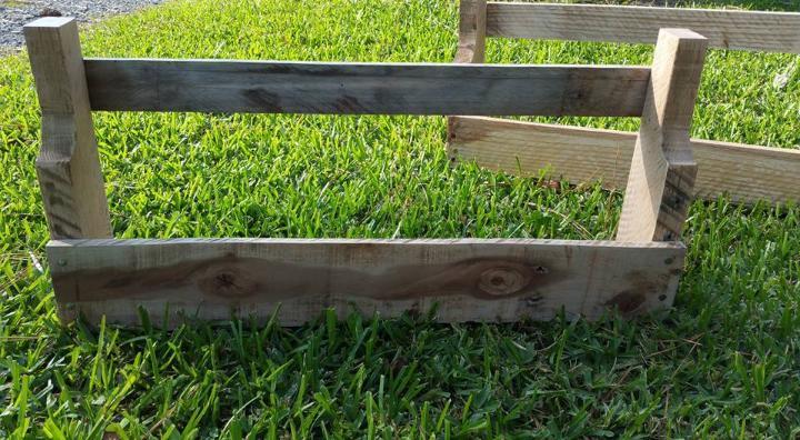 handmade wooden pallet wall shelves