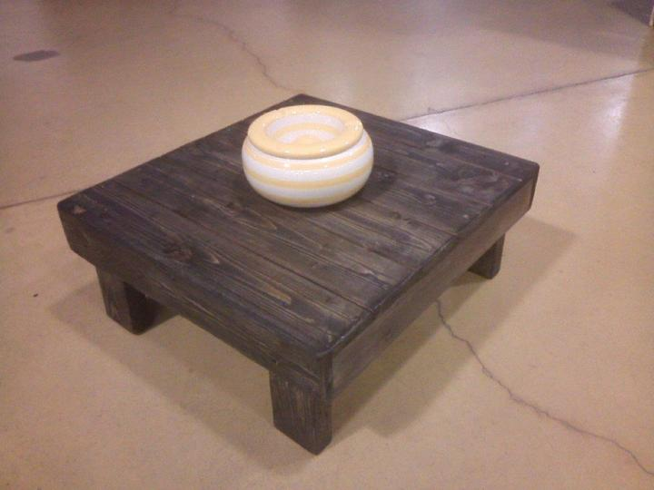 recycled pallet miniature pallet table