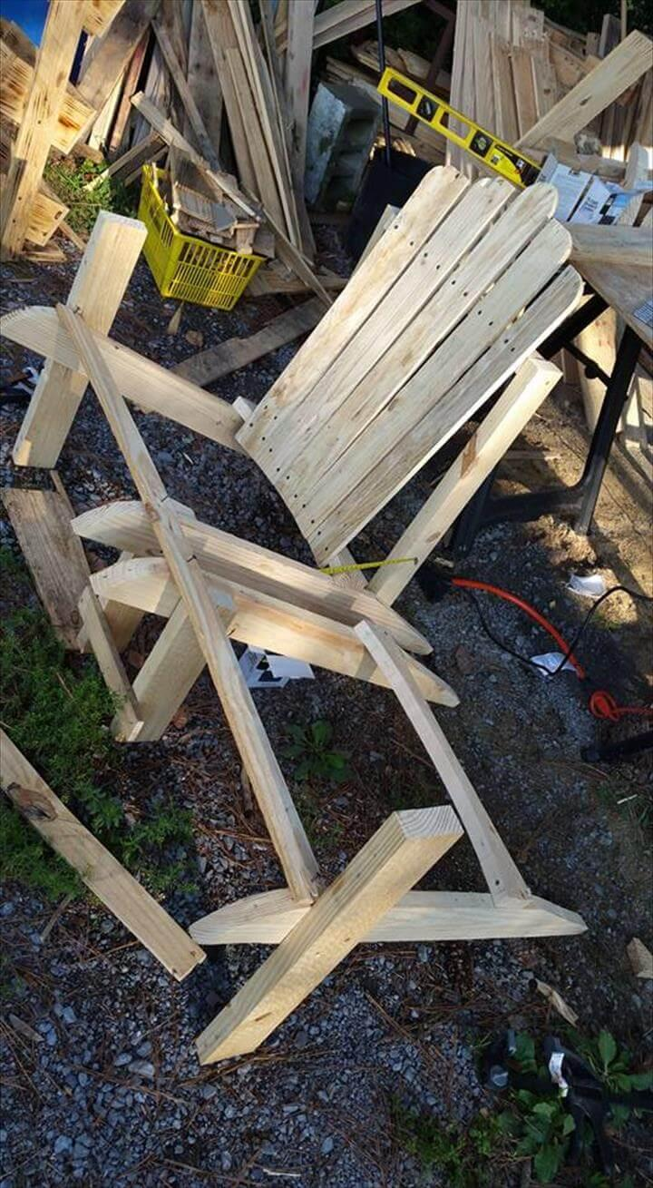 building the base of Adirondack bench