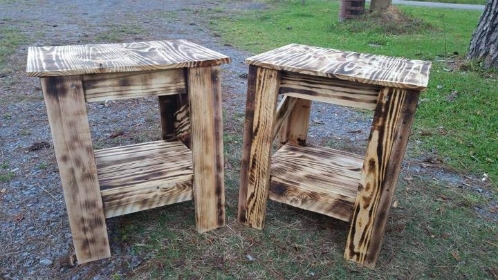 diy pallet pair of side tables