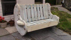 sturdy pallet and cable reel bench