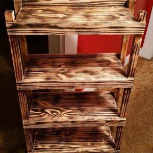 diy wooden pallet bookshelf