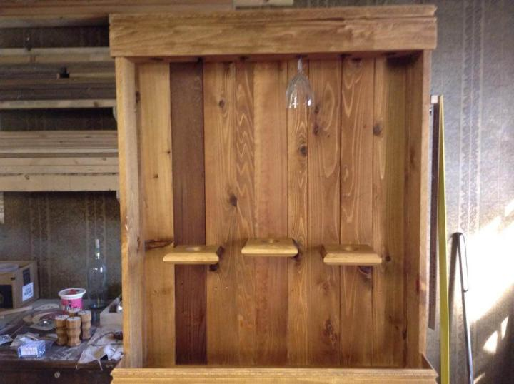 handmade pallet hall tree or hatrack