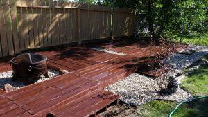 Pallet Deck and Outdoor Garden Floor