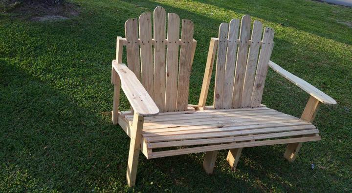 Adirondack Pallet Bench Easy Pallet Ideas
