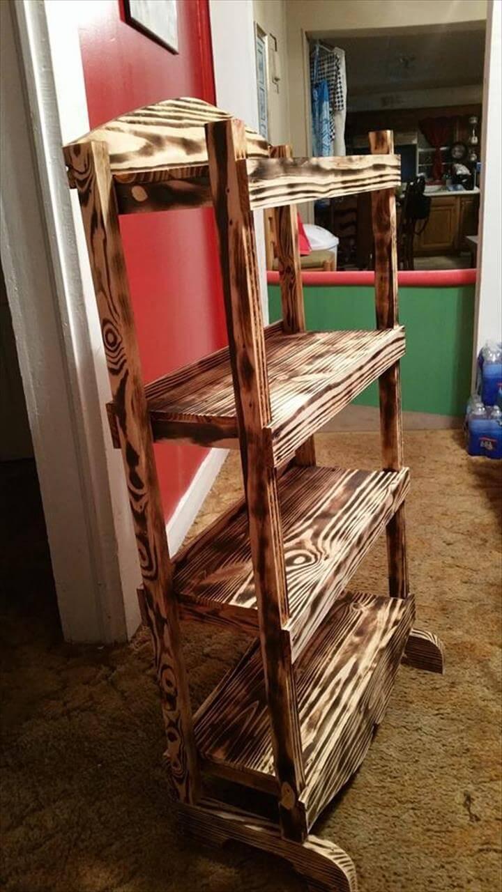 handcrafted pallet bookshelf