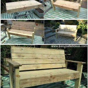 Bench from Pallets - Pallet Bench - Pallet Furniture - Pallet Ideas - Pallet Projects