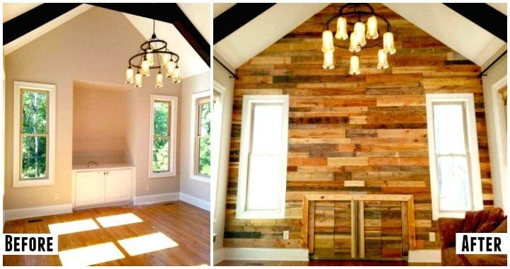 Pallet Wall for Living Room - Easy Pallet Ideas