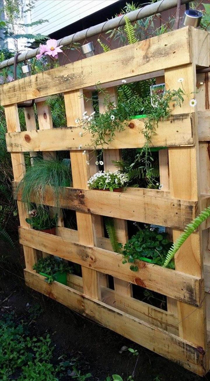 diy vertical pallet herb garden