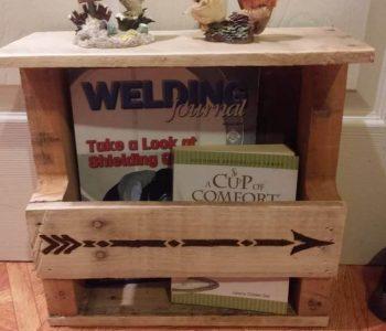 wooden pallet wall organizer