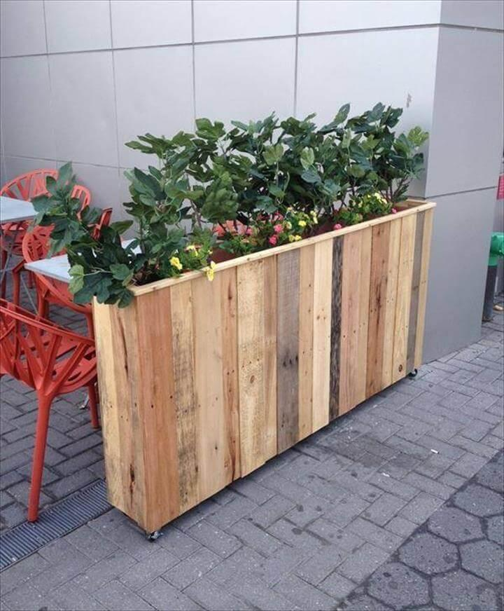 large box like pallet planter