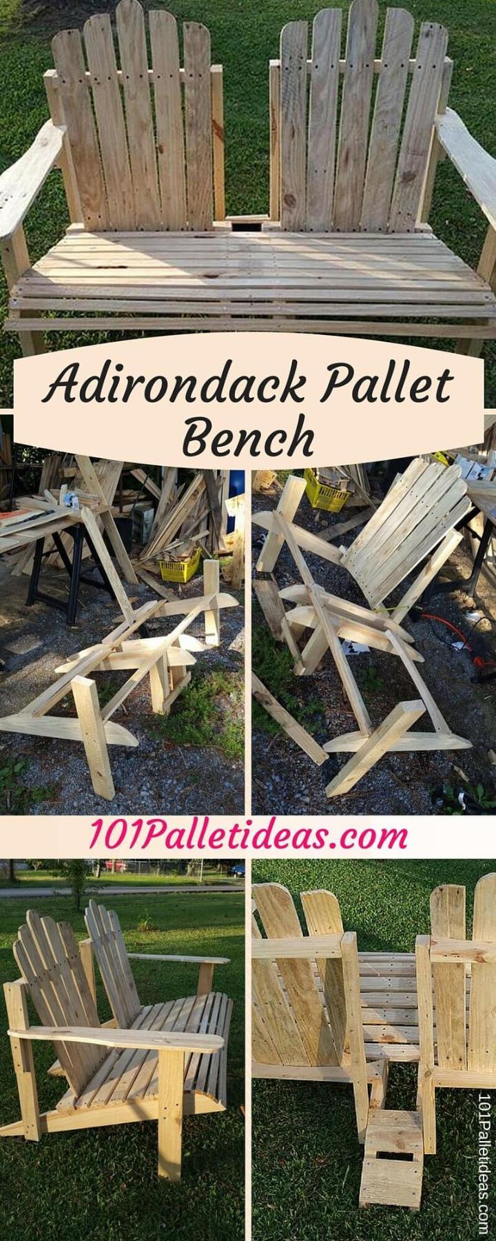 Adirondack Pallet Bench