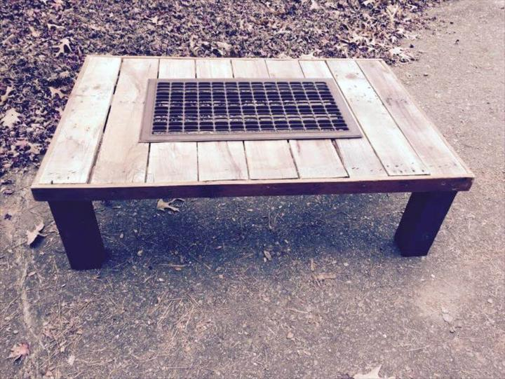 wooden pallet grill coffee table