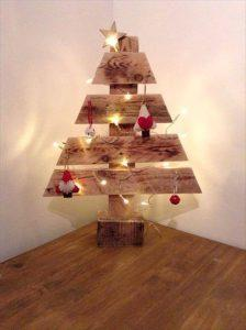 wooden tree made of pallets