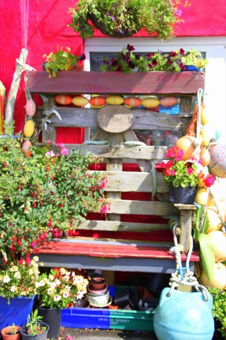 diy pallet potting bench planter